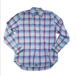 Tommy Bahama TENCEL plaid button down shirt M